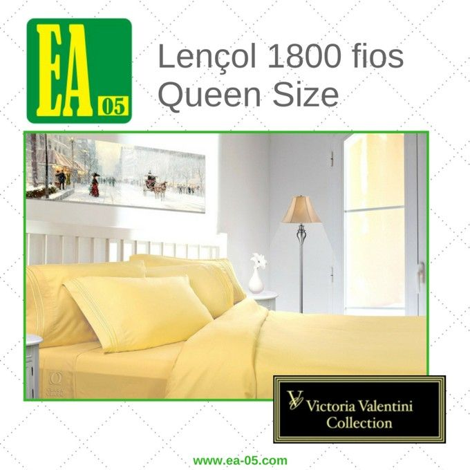 Lençol 1800 fios - Victoria Valentini Collection - Queen Size - Mostarda