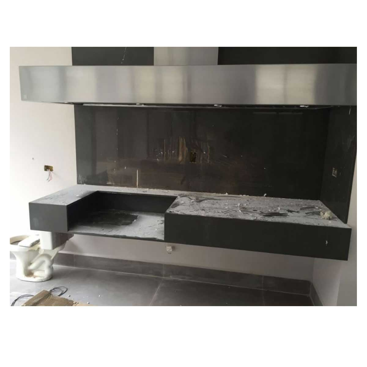 Churrasqueira a Gas Home e Grill Compact Premium HG-2B - 2 Queimadores - 100% Inox 304  - Sua Casa Gourmet e Cia