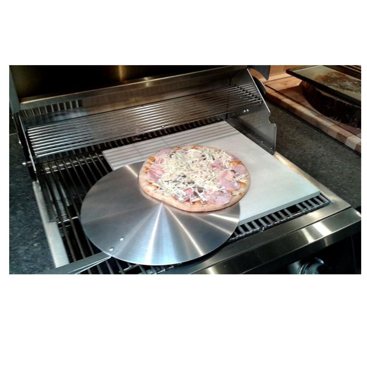 Pedra Refratária Cerâmica Quadrada Para Pizza 40x40 cm  - Sua Casa Gourmet e Cia