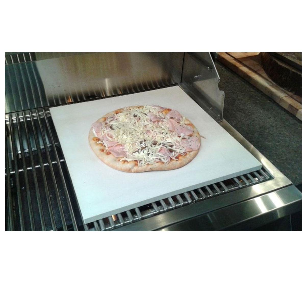 Pedra Refratária Cerâmica Quadrada Para Pizza 40x40 cm