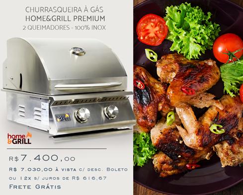 Churrasqueira à Gás Home & Grill Premium 2 Queimadores