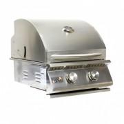 Churrasqueira a Gas Home e Grill Compact Premium HG-2B - 2 Queimadores - 100% Inox 304