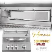 Churrasqueira a Gás Concept Grill Monaco com Infrared 3 Queimadores