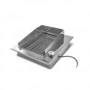 Churrasqueira Elétrica Gourmet Simples Inox 304 JX Metais - 110V ou 220V