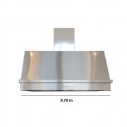 Coifa Inox 430 Roma 0,70m - 700 X 600mm