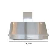 Coifa Inox 430 Roma 0,70m - 700 X 700mm