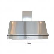Coifa Inox 430 Roma 1,00m - 1000 X 650mm