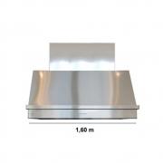 Coifa Inox 430 Roma 1,60m - 1600 X 650mm