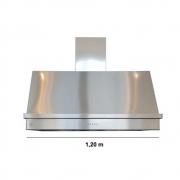 Coifa Inox 430 Roma 1,20m - 1200 X 650mm 2 Motores