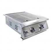 Grelhador Embutir Compact HG-2B Inox 2 bocas Home&Grill