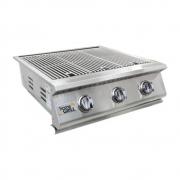 Grelhador Embutir Style HG-3B Inox 304 3 bocas Home&Grill