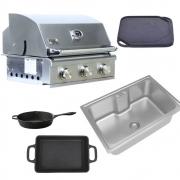 Kit Área Gourmet Churrasqueira a Gás HG Smart K8