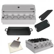 Kit Área Gourmet Churrasqueira de Embutir 5 Queimadores K11