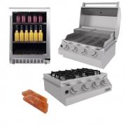 Kit Área Gourmet Churrasqueira de Embutir 4 Queimadores K2