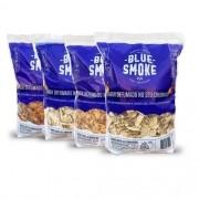Lascas de Lenha Para Defumação Blue Smoke 1kg - Vários Sabores