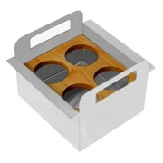 Porta Condimentos Debacco Inox 15cm - 20.04.00144