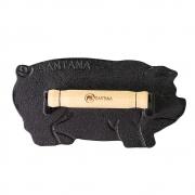 Prensador de Bife Ferro Fundido Formato Porquinho 23cm Santana