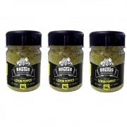 Tempero Lemon Pepper Perfeito Para Frutos do Mar 180g Brutus - 3 Unidades