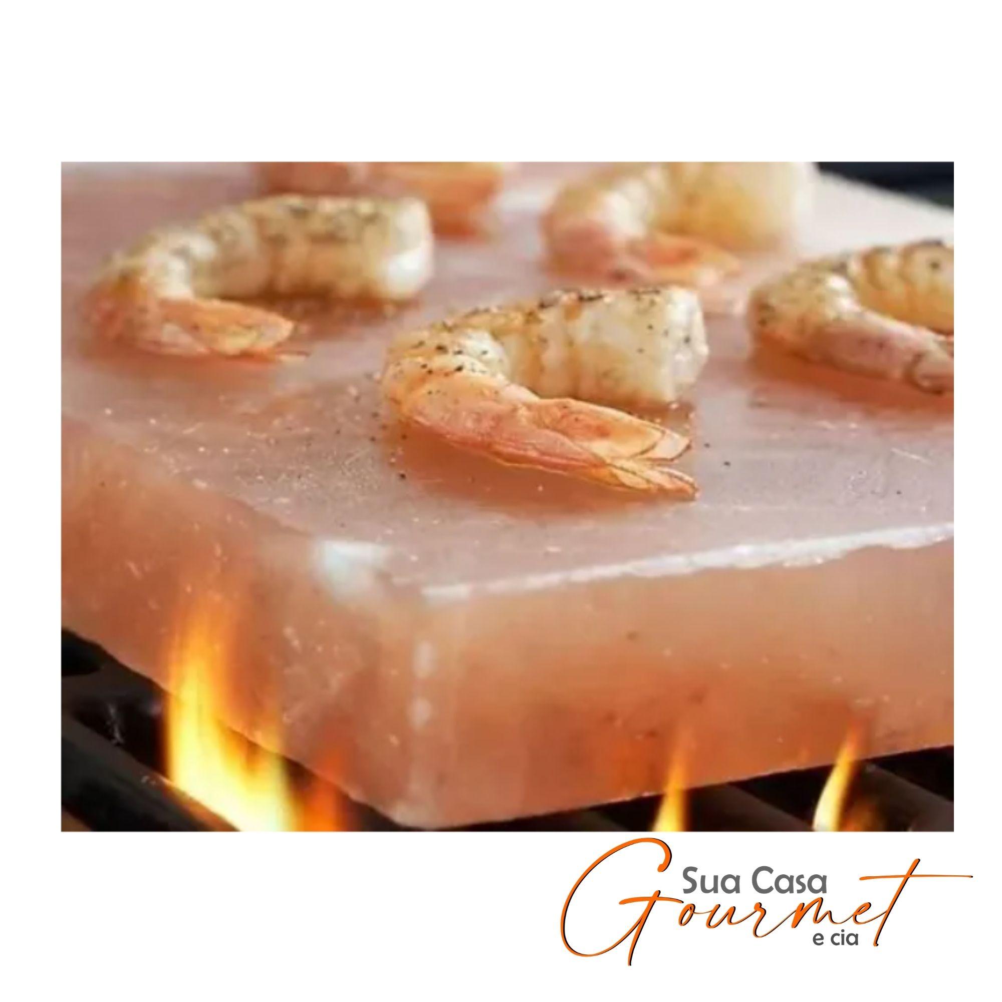 2 Pedras Sal Rosa Himalaya p/ Churrasco 7kg cada  - Sua Casa Gourmet e Cia