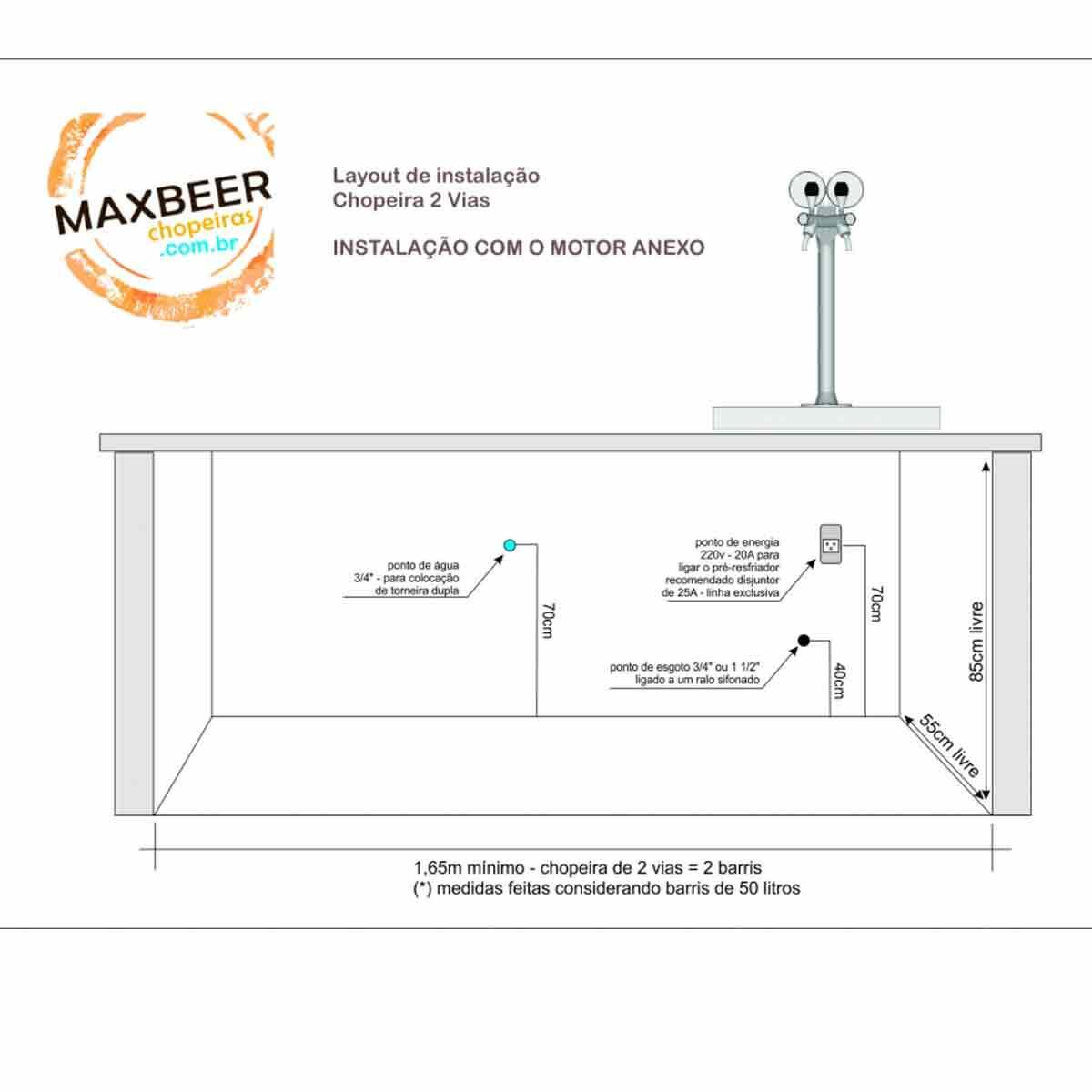 Chopeira Naja 2 Vias Premium Sub-Zero - Torre Congelada