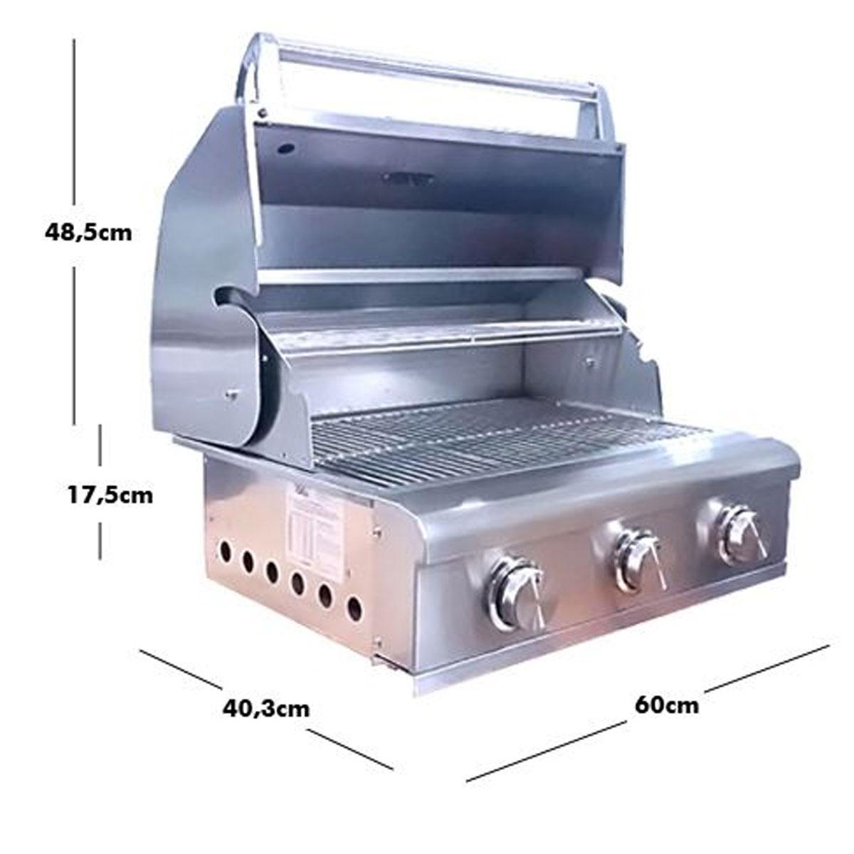 Churrasqueira a Gás 3 Queimadores Home&Grill Smart  - Sua Casa Gourmet e Cia