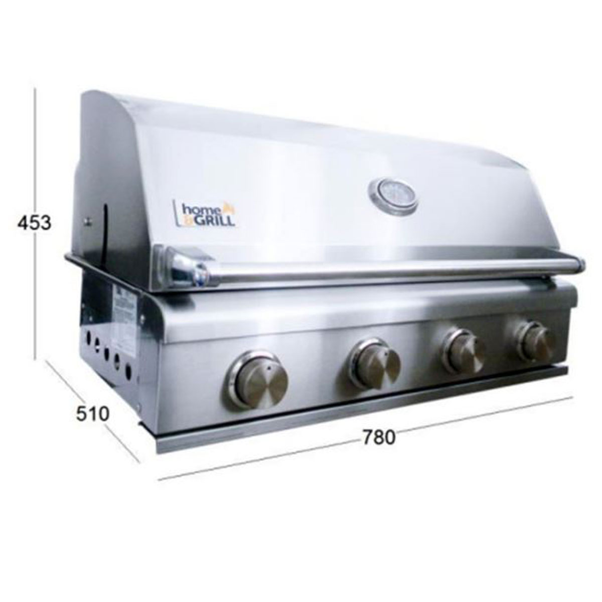 Churrasqueira A Gás 4 Queimadores Home Grill Smart  - Sua Casa Gourmet e Cia