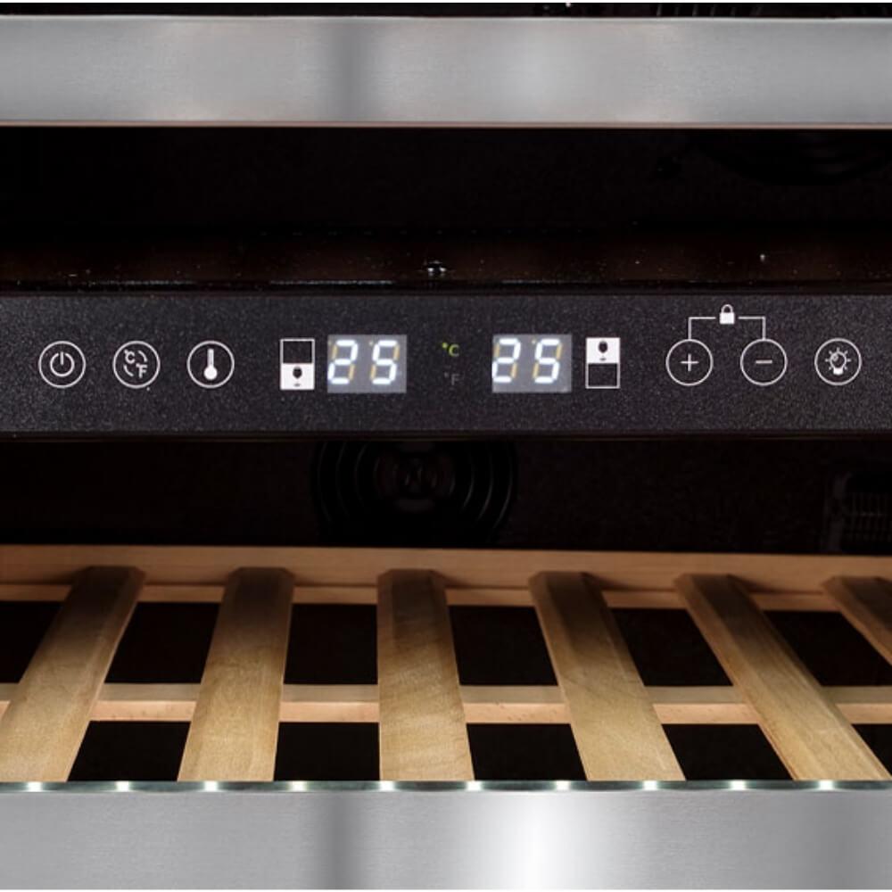 Adega Climatizada Dual Zone P.Dir. - 46 Garrafas - 127V - JC-145B - Evol  - Sua Casa Gourmet e Cia