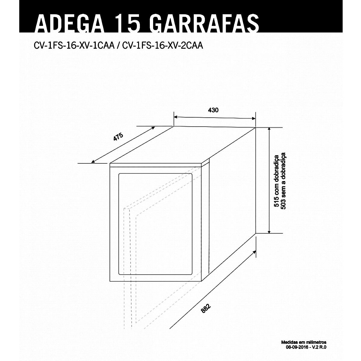 Adega Elettromec 15 Garrafas