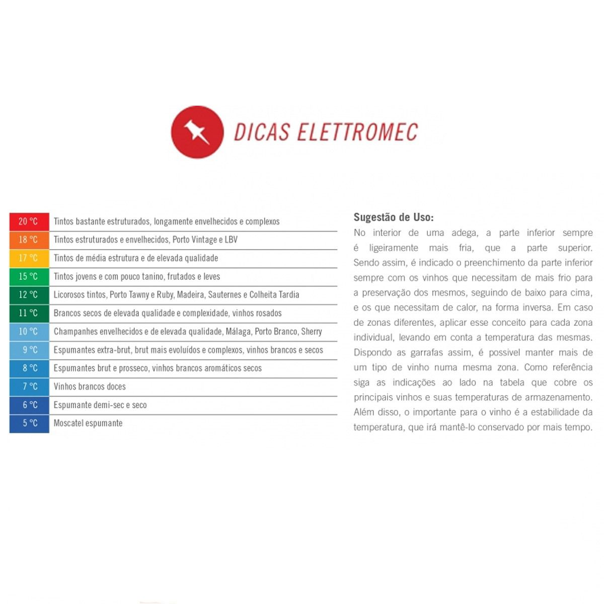 Adega Elettromec 34 Garrafas - Dual Zone