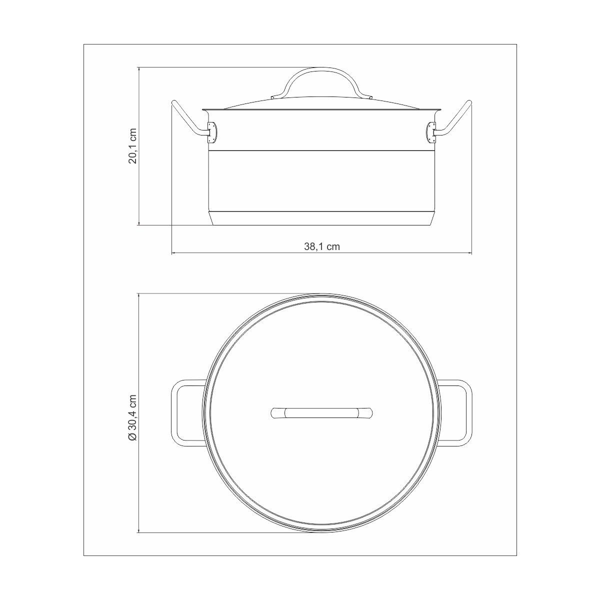 Caçarola Funda Professional 28cm Tramontina  - Sua Casa Gourmet e Cia