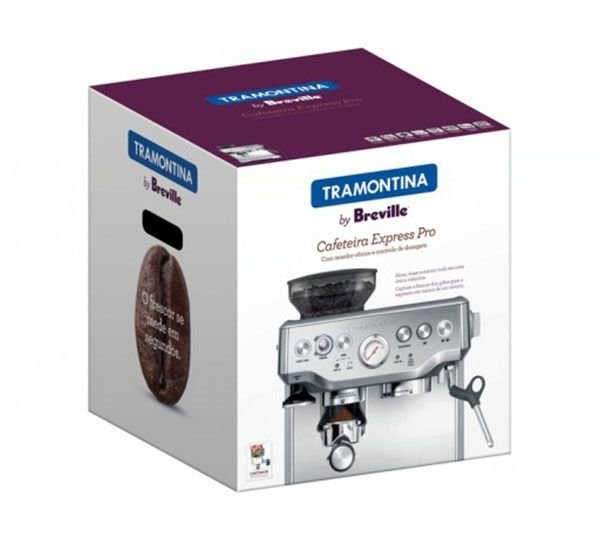 Cafeteira Breville Tramontina Express Pró Aço Inox Com Moedor