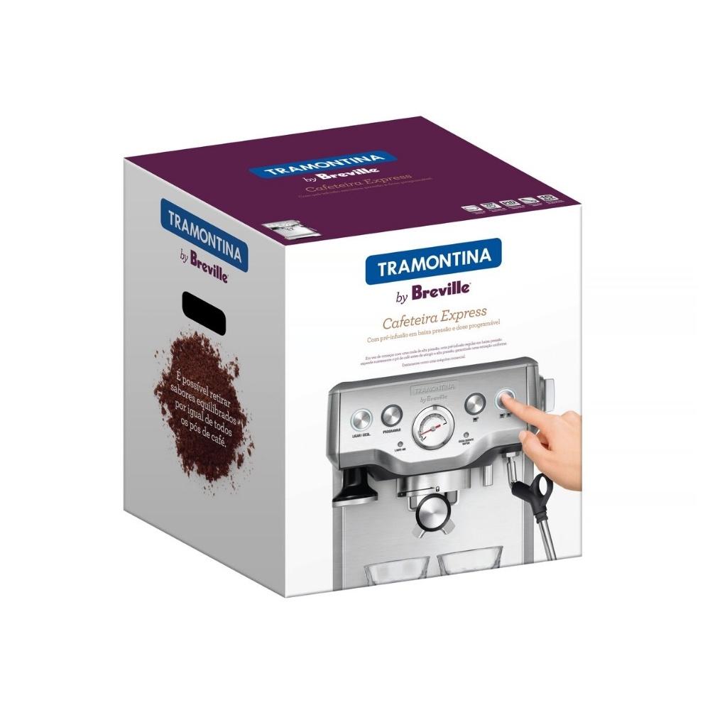 Cafeteira Tramontina Breville Express Pro 69066 Inox 110V com Detergente pó para Cafeteira  - Sua Casa Gourmet e Cia