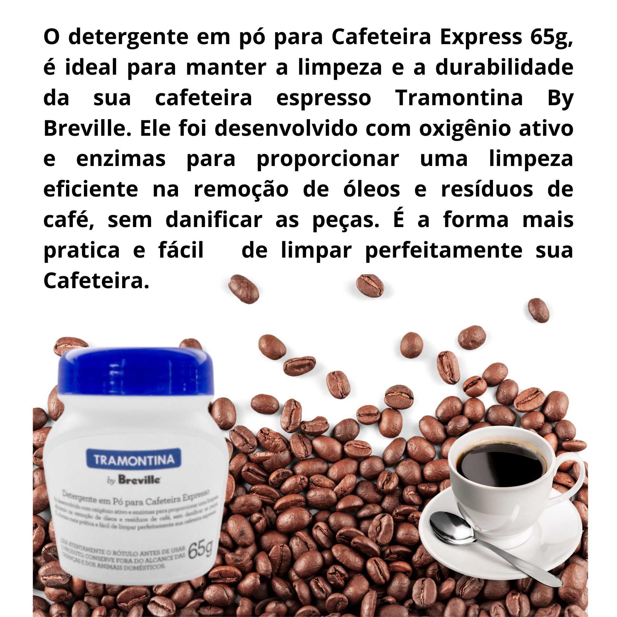 Cafeteira Breville Express Pro 69066 Inox 220V com Detergente pó para Cafeteira Tramontina  - Sua Casa Gourmet e Cia