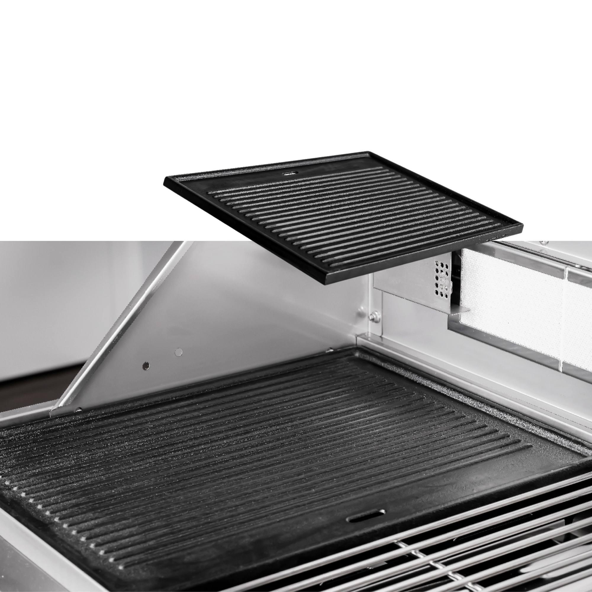 Chapa de Lanche para Churrasqueira Concept Grill 4 queimadores  - Sua Casa Gourmet e Cia