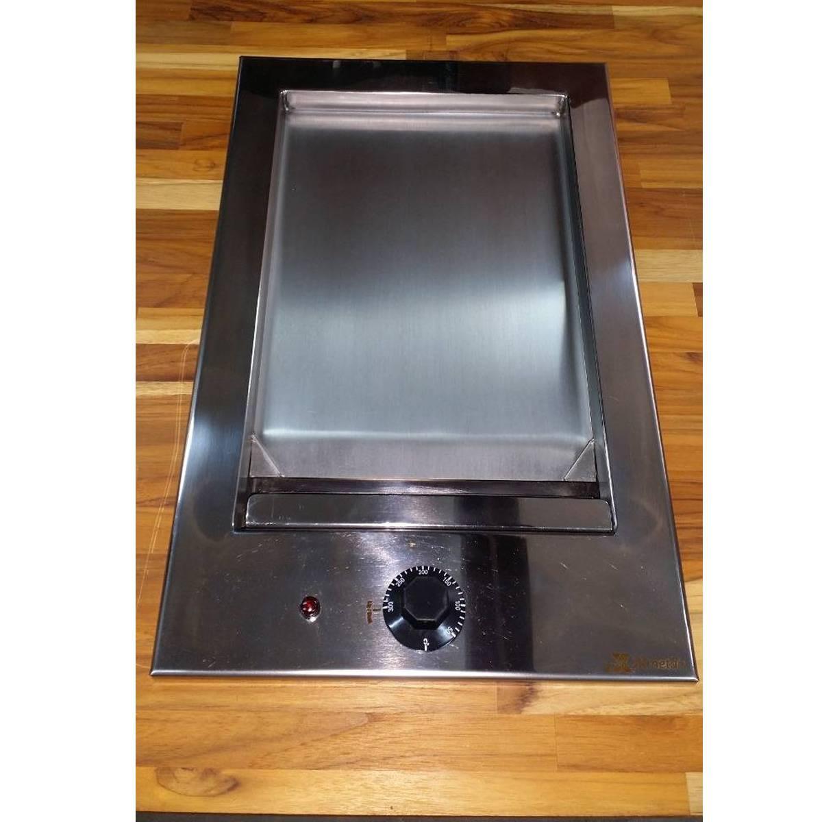 Chapa de Lanche Gourmet Elétrica Inox de Embutir JX Metais - 40x50  - Sua Casa Gourmet e Cia