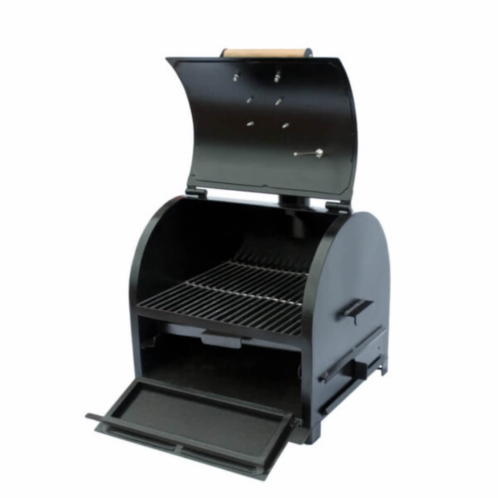 Defumador Smoker Sugar Preto Kings Barbecue  - Sua Casa Gourmet e Cia