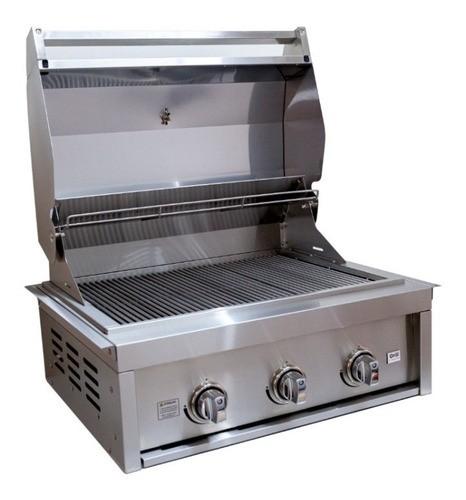 Churrasqueira a Gás 3 Queimadores GCPro 3200 Grill Chef Pro  - Sua Casa Gourmet e Cia