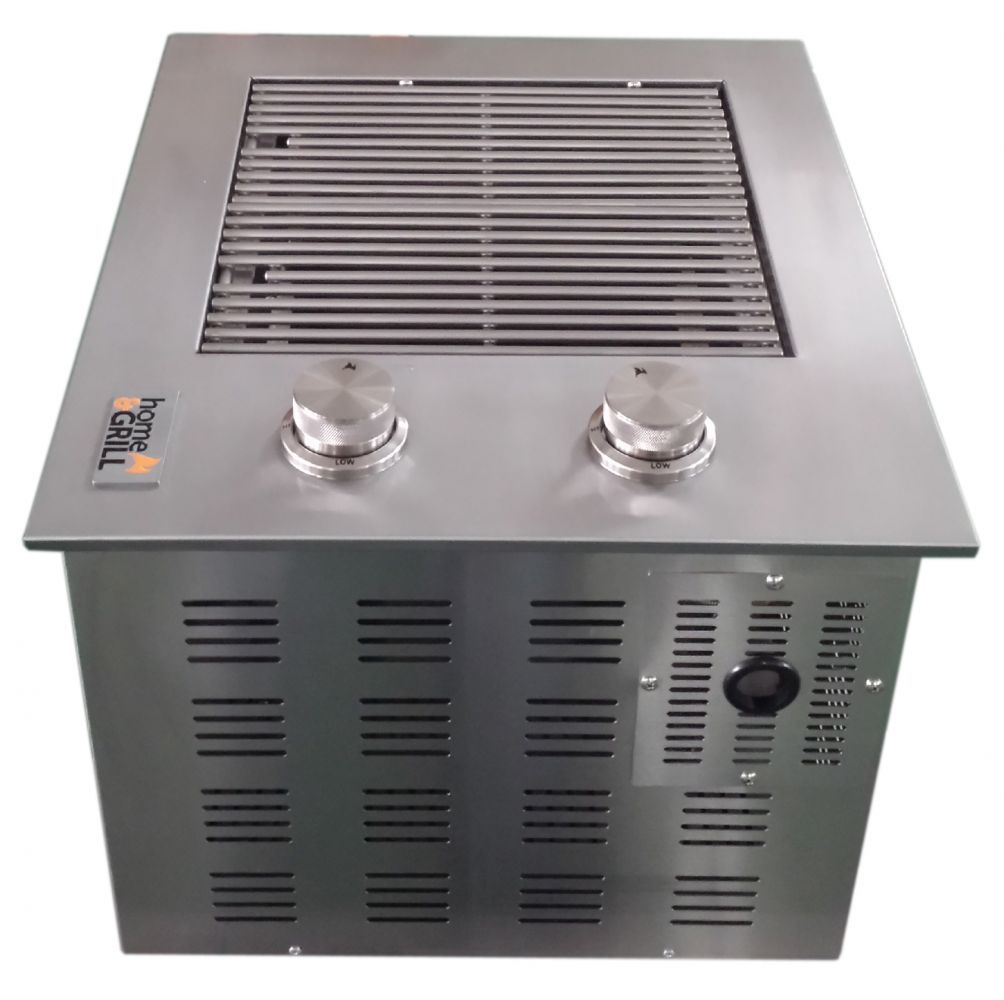Churrasqueira a Gás Home&Grill Drop-In HG-2B Sem Tampa - Inox 304