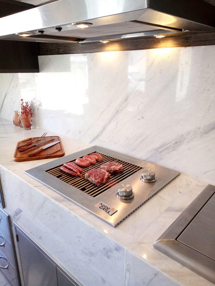 Churrasqueira à Gás Home e Grill Drop In HG-2B - 100% Inox 304