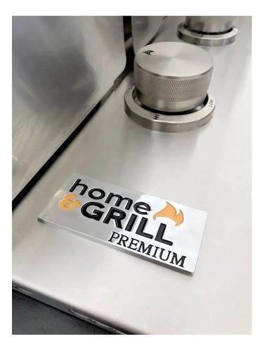 Churrasqueira a Gás Home&Grill Drop-In HG-2B Com Tampa - Inox 304  - Sua Casa Gourmet e Cia