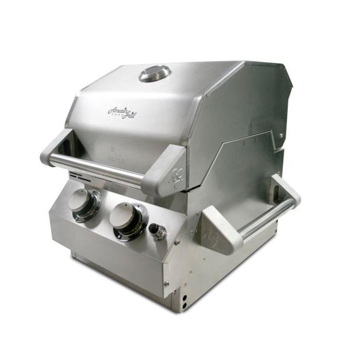 Churrasqueira à Gás Portátil AmazinGrill P2 - 2 Queimadores - 100% Inox 304