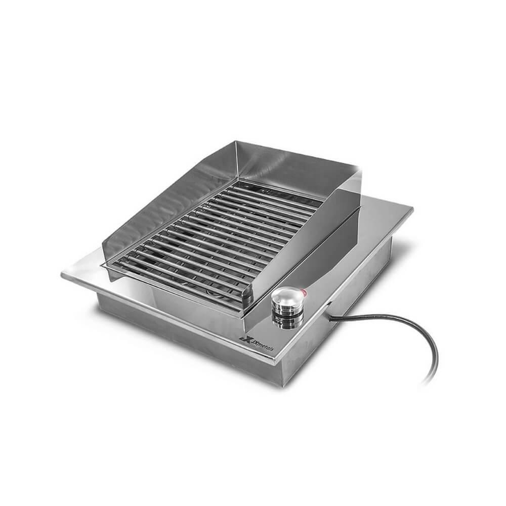 Churrasqueira Elétrica Gourmet Simples Inox 304 JX Metais -110V ou 220V