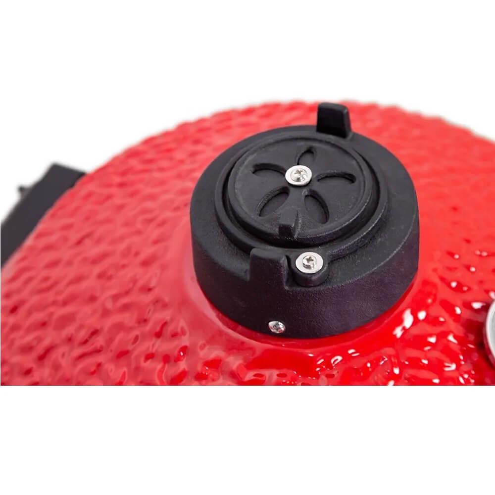 Churrasqueira Kamado Big Bob Egg Cerâmica Carvão Grill 16 Vermelha  - Sua Casa Gourmet e Cia