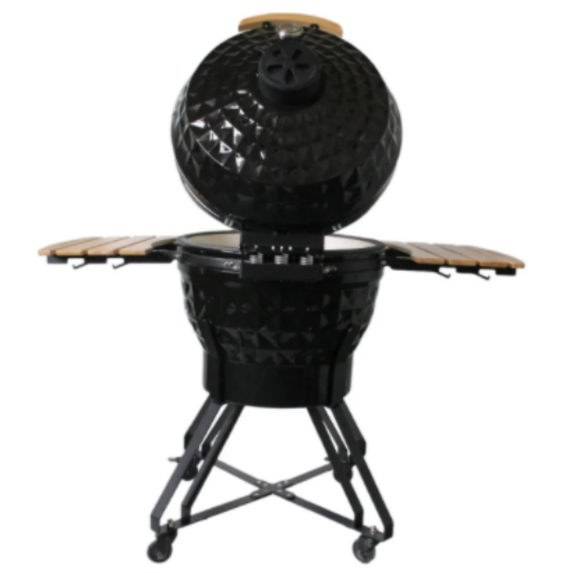 Churrasqueira Kamado Big Bob Egg Cerâmica Carvão Grill 24  - Sua Casa Gourmet e Cia