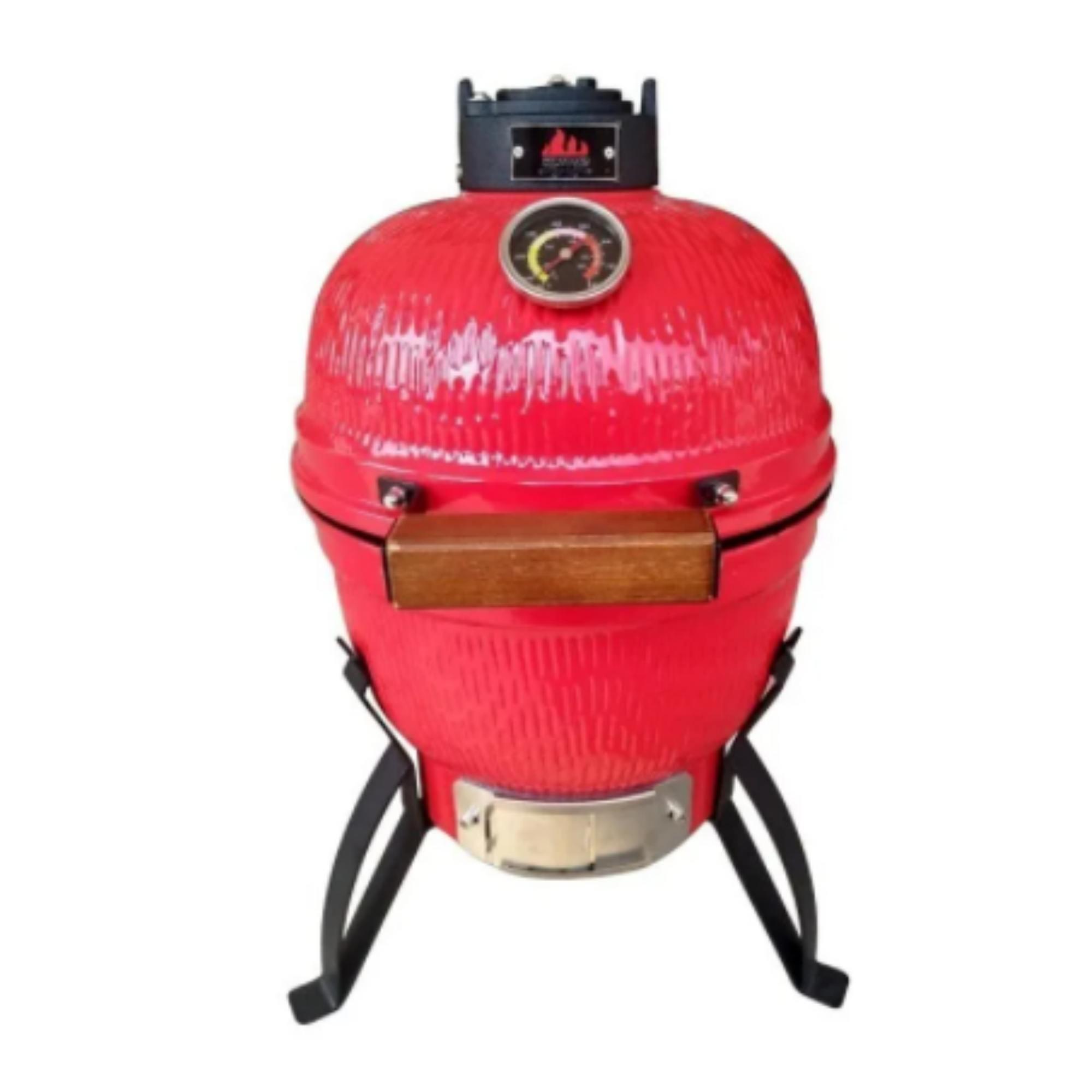 Churrasqueira Kamado Big Bob Egg Cerâmica Classic 13 Vermelha