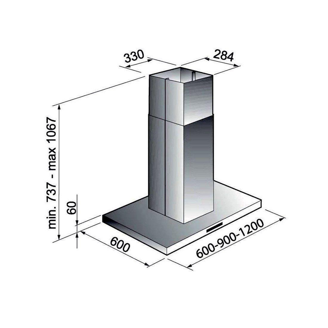 Coifa Elettromec Milano Ilha Inox 60cm