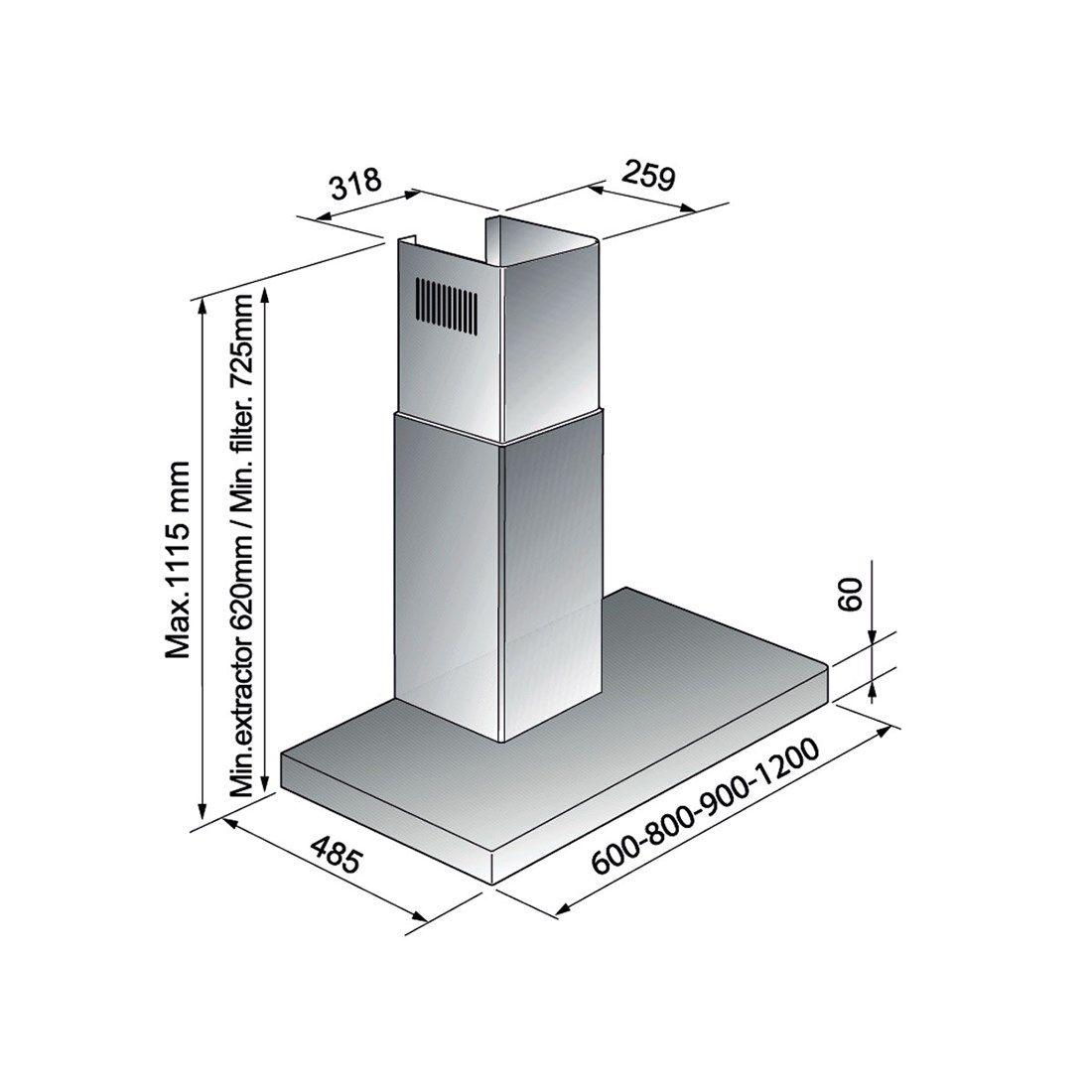 Coifa Elettromec Milano Parede Inox 60cm