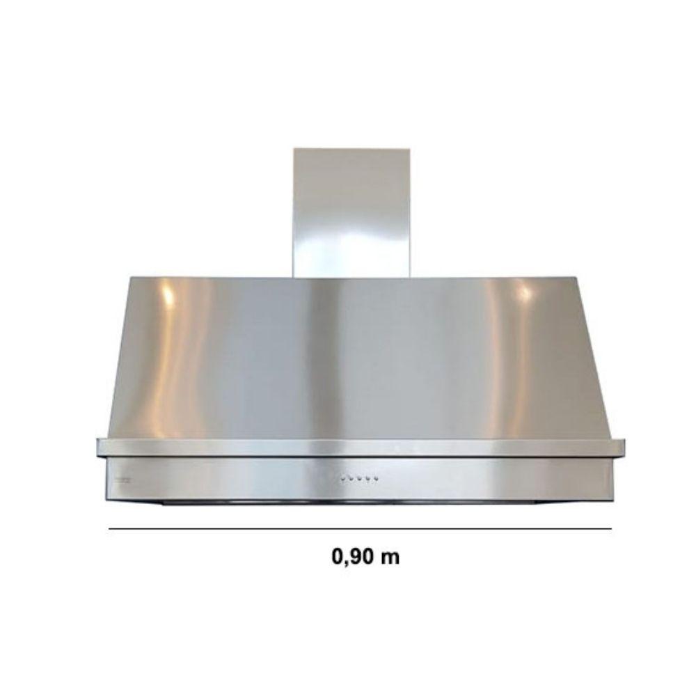 Coifa Inox 430 Roma 0,90m - 900 X 600mm