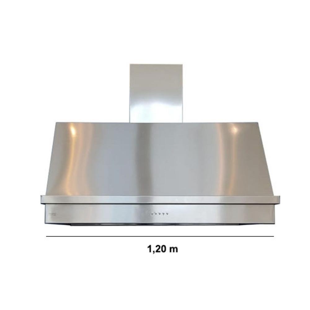 Coifa Inox 430 Roma 1,20m - 1200 X 650mm