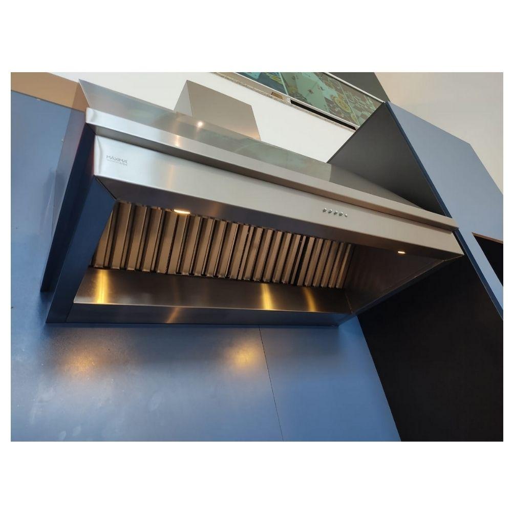 Coifa Inox 430 Roma 1,20m - 1200 X 650mm  - Sua Casa Gourmet e Cia